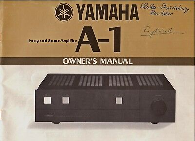 YAMAHA Integrated Stereo AMPLIFIER A-1 OWNER'S MANUAL, Printed in Japan 7902