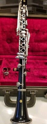 Noblet Clarinet #44348 France Wm H Stubbins Wood with Case