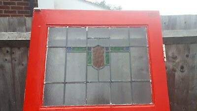 Reclaimed 1930s stained glass front door