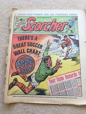 First 115 Issues of Scorcher magazine 10/1/70 -18/3/72. Condition fair - good