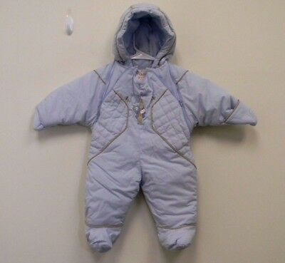 Peter Rabbit Blue One Piece Quilted Outerwear Suit Baby Bunting Size 9 Month