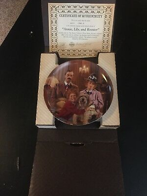 """Knowles Collector Plate """"Annie, Lily and Rooster"""""""