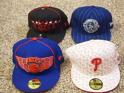 Lot Of 4   New Era 59Fifty Vintage Hats New With Tags -  7 3/8