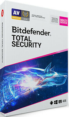 New Bitdefender Total Security 2020 5 Devices 1, 2, 3, 4 & 5 Years - e-Delivery
