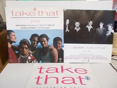 Take That In Store Promo Cards For Love Ain't Here/pray/every Thing Changes 1994