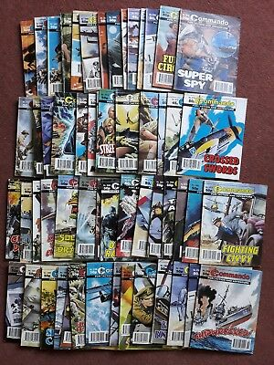 58 Commando comics vintage job lot 1990s. Good condition.