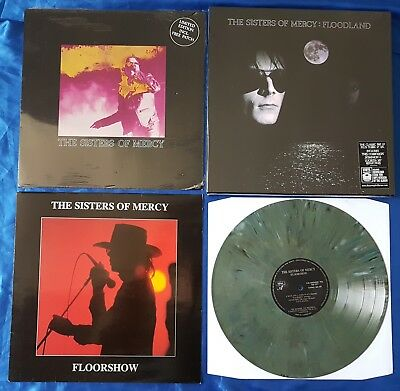 "THE SISTERS OF MERCY 6x VINYL LOT: BOX SET, 12"" +PATCH, FLOORSHOW COLOURED VINYL"
