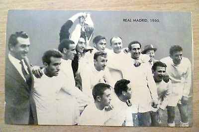 Card-Famous Teams in Football History 1960 REAL MADRID Team (125x75 mm)
