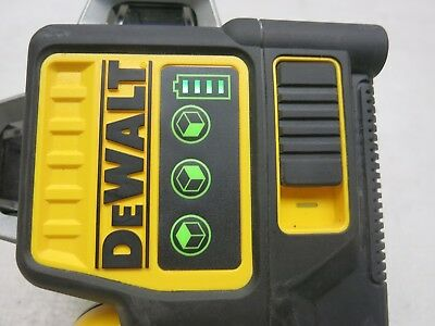 DeWalt DW089LG 12V MAX Lithium-Ion Rechargable 3 x 360 Green Laser (TOOL ONLY)
