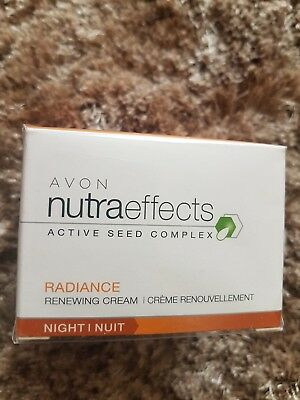 Avon Cosmetics NutraEffects Active seed complex Radiance renewing Night Cream