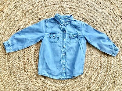 chemise jeans BOUT CHOU, T.24 mois ,TBE