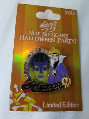 Disney 2015 Evil Queen Mickey's Not So Scary Halloween Party Pin LE