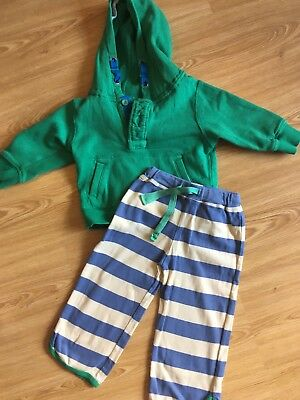 Green Baby Next Boys Outfit Age 12-18 Mths Vgc Trousers Hoodie
