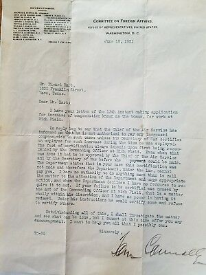 Letter From Committee On Foreign Affairs-Tom Connally To Soldier T. L. Carlton