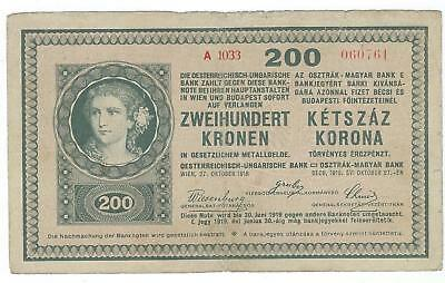 Hungary P-14 200 Korona (1919) circulated rough edge