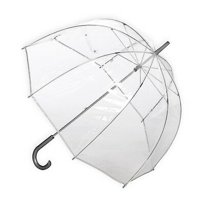 Clear Dome Fashion Transparent Bubble Umbrella Canopy w/ Curved Handle Wedding