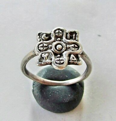 Byzantine Cross Ancient Silver  Ring