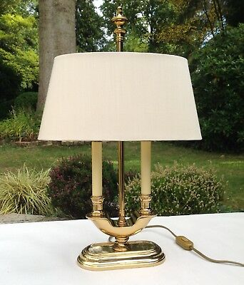 Solid Brass Bouillotte Style Table Lamp by Le Creu - Vintage 1980s