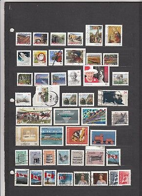 Canada, 45 Different Used Recent Stamps To 2018, Fresh, Great Cancels. Melita.