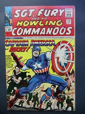 Sgt. Fury And His Howling Commandos #13 Captain America Marvel Comics Fine