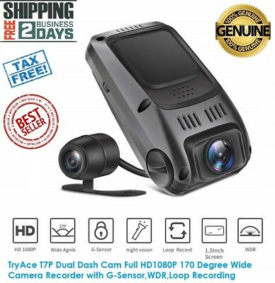 Dual Dash Cam HD1080P-170 Degree Wide Angle GSensor-Loop Recording FREE SHIPPING
