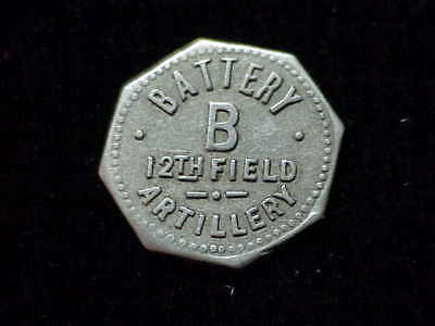 Fort Myer, VA Battery B 12th Field Artillery Virginia military dairy token