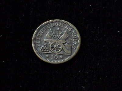 Pittsburgh Landing, TN Camp Shiloh 1862 pictorial Tennessee  CWT civil war token