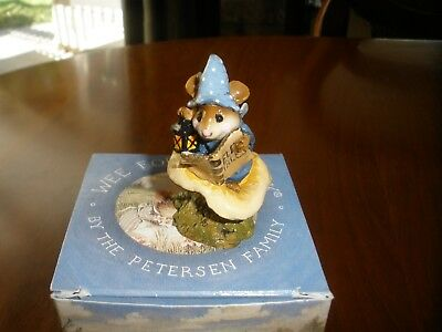 Wee Forest Folk ELF TALES M-163 Mouse Holding Lantern BLUE 1989 ~HALLOWEEN~ MIB