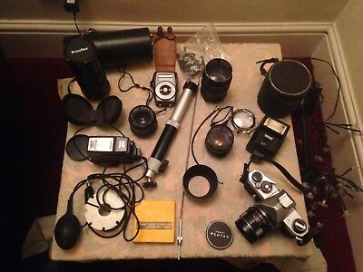 Vintage ASAHI Pentax SP Camera with accessories