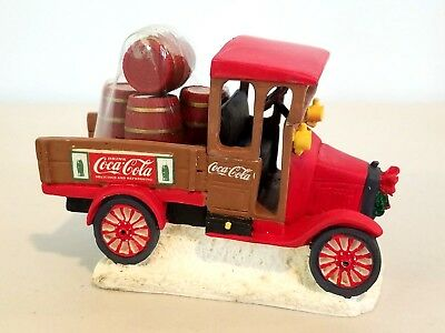"""Coca-Cola Town Square Collection, """"Model """"T"""" Truck w/ Red Barrels, #64311, 1992"""