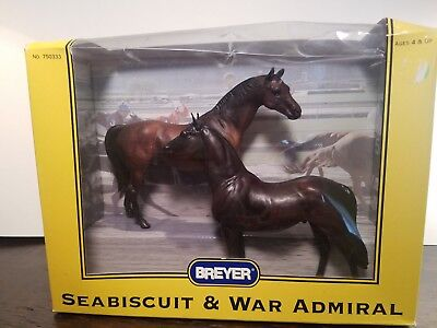 Breyer New in Box Seabiscuit & War Admiral No. 750333 Classic Model Horses