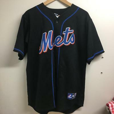 MEDIUM Men Majestic New York Mets Sewn #7 Santana Jersey Shirt