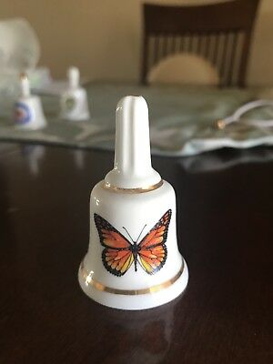 Miniature Collectible Butterfly Porcelein Bell Stone Age Bone China