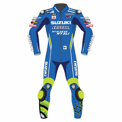 New Suzuki Ecstar Motogp 2018 Motorcycle Motorbike Leather Racing Suit Blue
