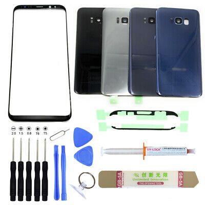 Samsung Galaxy S8 Front Screen Lens Glass Back Cover Door Replacement Repair Kit