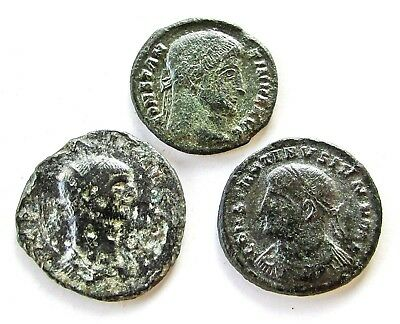 Lot Of 3 Ancient Roman Bronze Coins