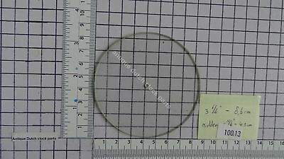 "ROUND FLAT GLASS FOR BAROMETER DIAL FACE HOLE FOR NEEDLE 3 6/16"" or 8,6 CM"