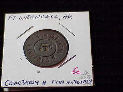 Fort Liscum, AK Company H 14th Infantry unlisted Alaska military token
