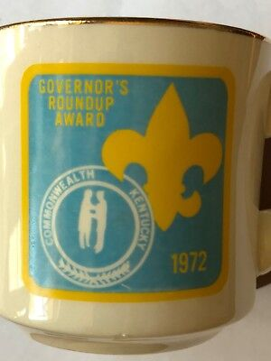 Vintage Boy Scouts Cup Governor's Roundup Commonwealth Kentucky 1972