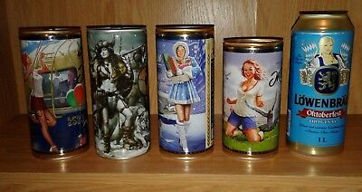 Really Nice Lot Of Large Beer Cans From Russia 5 Cans Total Pinup Style