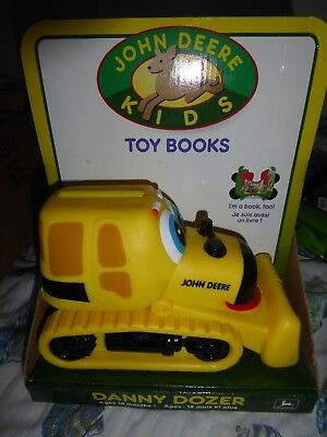 Ertl John Deere Danny Dozer Kids Soft Plastic  Book  New In Box 1997