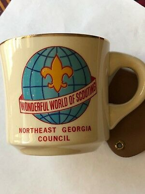 Vintage Boy Scouts Cup Wonderful World Of Scouting Northeast Georgia Council