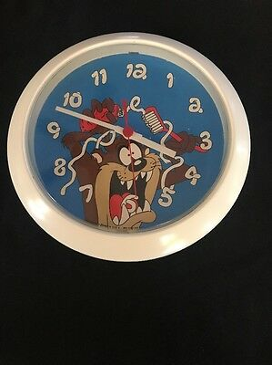 Looney Tunes Tasmanian Devil Westclox Clock 1994 Warner Bros