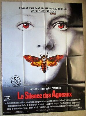 Silence Of The Lambs Orig 1990 Fr 1Pnl Movie Poster Fld Jody Foster Nm