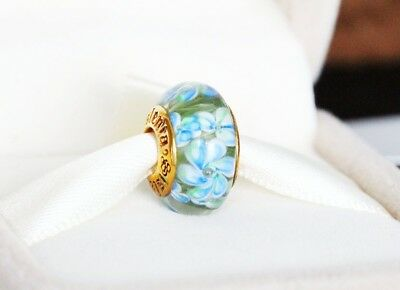 Authentic Sislenia 310322 Murano Glass 24K Gold plated Charm New Great Gift