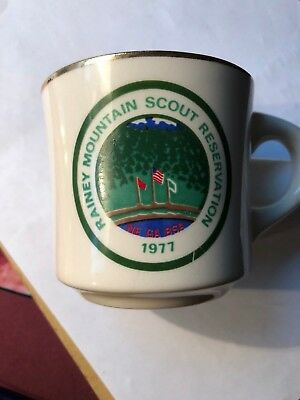 Vintage Boy Scouts Cup  Rainy Mountain Scout Reservation 1977