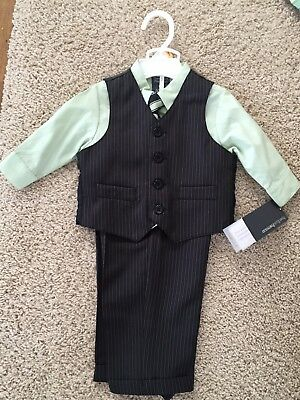 Boys Perry Ellis 4 Pc Dress Suit Church Wedding 12 Month M New With Tags