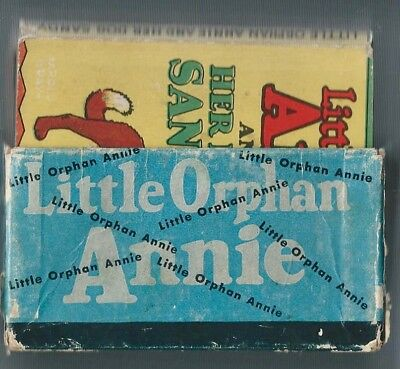 LITTLE ORPHAN ANNIE WEE LITTLE BOOKS – 4 Books and Cardboard Holder