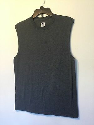 Mens Russell Athletic - Small - Muscle Shirt - Dark Gray -  Tank Top