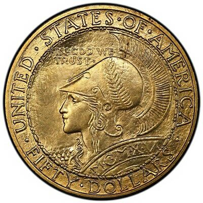 PANAMA PACIFIC ROUND 1915-S $50 Gold Commemorative PCGS MS64